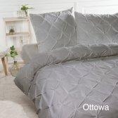 Papillon Ottowa - dekbedovertrek - tweepersoons - 200 x 200/220 - Taupe