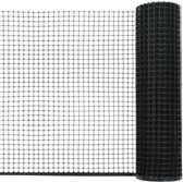 vidaXL Tuinhek gaas 30x0.6 m HDPE zwart