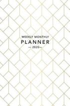 Weekly Monthly Planner 2020: Gold Geometric Art Deco - 6x9 in - 2020 Organizer with Bonus Dotted Grid Pages + Motivational Quotes + To-Do Lists