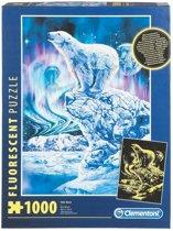 Clementoni Fluoriscerende Puzzel - Polar Bears - 1000 Stukjes