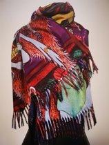 Paco's Cartagena Art Dames Wintersjaals