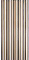 Vliegengordijn linten bruin/beige 90x200