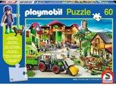 Schmidt Playmobil puzzel op de boerderij 60 stukjes