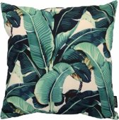Banana Leaf Kussenhoes - Katoen/Linnen - 45 x 45 cm - Groen/Geel/Beige