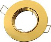 LED line Inbouwspot - Rond - Kantelbaar - GU10 Fitting - Ø 92 mm - Goud