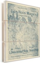 The Three Wise Men - Schilderij van Henri de Toulouse-Lautrec Vurenhout met planken 60x80 cm - Foto print op Hout (Wanddecoratie)