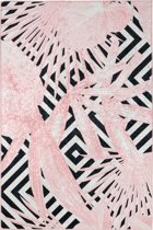 Laagpolig vloerkleed Exotic - roze - 160x230 cm