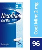 Nicotinell cool mint 2 mg kauwgom - 96 stuks - Antirookbehandeling