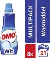 Omo Vloeibaar Klein & Krachtig Wit - 168 wasbeurten - 8 stuks - Wasmiddel