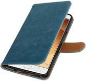 Samsung Galaxy C9 Blauw   Premium TPU PU Leder bookstyle / book case/ wallet case    WN™