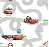 Dutch Wallcoverings Papierbehang - Disney - Cars Racetrack