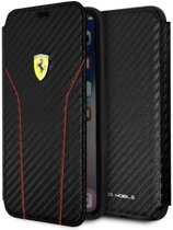 Ferrari Zwart On Track Carbon Booktype iPhone X