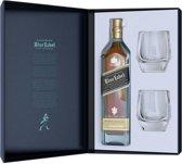 Johnnie Walker Blue Label Cadeauverpakking - 1 x 75 cl + 2 Glazen