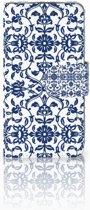LG L70 Uniek Boekhoesje Flower Blue