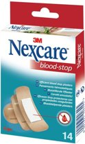 Nexcare™ Blood-Stop Bloedstop pleisters, huidkleurig, assortiment, 14 pleisters, N1714AS