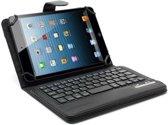 Javu - Universele 8 inch Tablet Hoes - Keyboard Cover Lychee Zwart