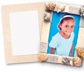 Houten fotolijstjes - maak je eigen - creatieve knutselmateriaal voor kinderen en volwassenen om te schilderen en versieren (4 stuks)