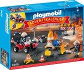 PLAYMOBIL Adventskalender Interventie op de bouwwerf - 9486