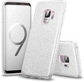 Samsung Galaxy S9 Plus Hoesje - Glitter Backcover - Zilver