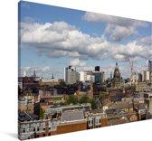 Uitzicht op het Britse Leeds Canvas 60x40 cm - Foto print op Canvas schilderij (Wanddecoratie woonkamer / slaapkamer) / Europese steden Canvas Schilderijen