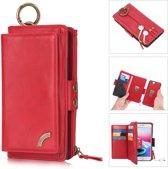 Huawei P30 PRO Pelegon hoesje + portemonnee geschikt voor 12 pasjes minimaal rood