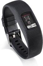 Siliconen Horloge Band Voor Garmin Vivofit 4  - Armband / Polsband / Strap Bandje / Sportband - Zwart