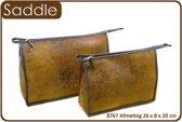 """Vagabond-Toilettas-Large Holdall """"Saddle"""" 8767-afmeting 26 x 8 x 20 cm."""