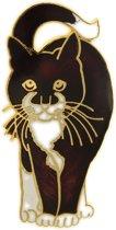Behave® Broche kat bruin
