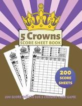 5 Crowns Score Sheet Book