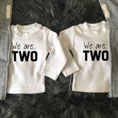 Shirtjes Tweeling we are...two