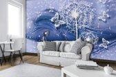 Fotobehang Vlies | Paardenbloem | Blauw | 368x254cm (bxh)