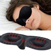 3D Deluxe Travel Slaap Oogmasker - Travel Slaapmasker Ogen - Zwart