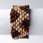 Armband kokosnoot - 8 kralen breedte - Model 15