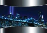 Fotobehang View City Brooklyn Bridge New York City | XXXL - 416cm x 254cm | 130g/m2 Vlies