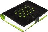Ecowings RingNoteLuxe notitieboek van autoband - met groene rits