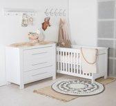 Cabino - Babykamer Noel - 2-delige - Ledikant - Commode - Wit