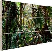 Planten in regenwoud Hout 120x80 cm - Foto print op Hout (Wanddecoratie)