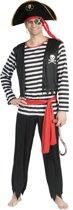 Piraat & Viking Kostuum | Pat De Piraat | Man | Maat 48-50 | Carnaval kostuum | Verkleedkleding