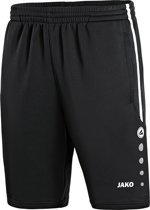 Jako Active Trainingsshort  Sportbroek - Maat 128  - Unisex - zwart/wit