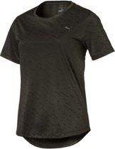 PUMA S/S Graphic Tee W Sportshirt Dames - forest night-puma black