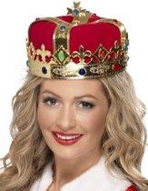 Koninginnen kroon met nep edelstenen - Verkleedhoofddeksel