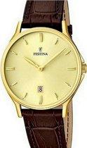 Festina F16747/2 Klassiek - Horloge- Staal - Zilverkleurig - 39 mm