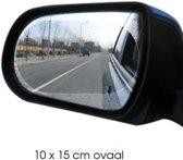 Zijspiegel/buitenspiegel folie voor beter zicht - anti regen, anti mist, anti sneeuw - anti vries, anti vuil - handige auto accessoires - auto onderdelen - autosticker - veilig autozicht- ovaal 2 stuks