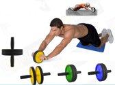 Dubbele Ab Wheel Fitness Roller Met Mat - Trainingswiel Buikspier Wiel Trainer Met Kniemat - Workout Buikspierwiel