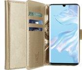 iCall - Huawei P30 Pro Hoesje - Lederen TPU Book Case Portemonnee Flip Wallet - Goud