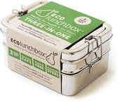 Eco Lunchbox - RVS - 3 bakjes in 1