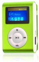 mini clip MP3 speler met display Groen en in-ear k