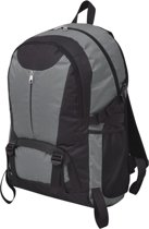 vidaXL Hiking rugzak 40 L zwart en grijs