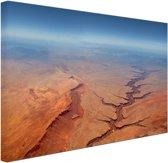 Luchtfoto van de Grand Canyon Canvas 120x80 cm - Foto print op Canvas schilderij (Wanddecoratie woonkamer / slaapkamer)