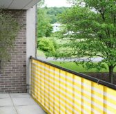 Balkondoek geel en wit 0.9 x 5 meter